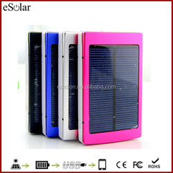 10000mah solar power bank portable waterproof Panel with usb ports for CellPhone