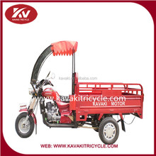 Best China brands KAVAKI 3wheels cargo tricycle with glass shed