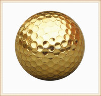 promotional logo customized golden golf ball