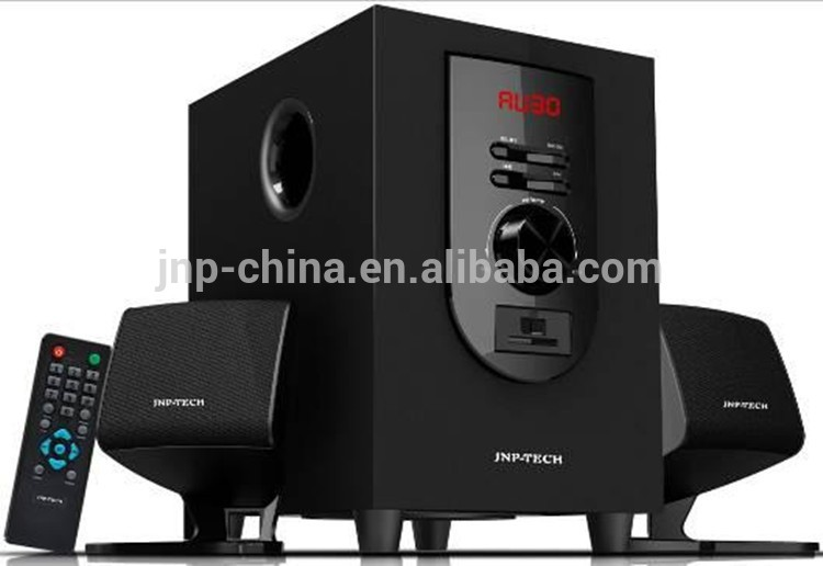 multimedia Hot sale Home theatre SUBWOOFER 2.1 speaker system with LED subwoofer speaker with With USB/SD/FM/Remote control