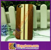 wholesale bamboo wooden PC case for iphone 5