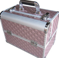 professional eyeshadow beauty case for makeup aluminum tool case with lock