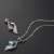 Woman Love Charm Pure Silver Chain Fancy Female Angel Wing Necklace