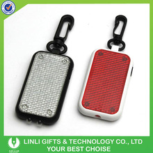 Portable Plastic Led Reflection Keyring For Promotion