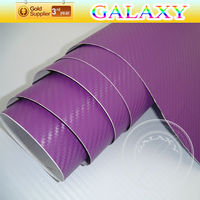 Self adhesive waterproof pvc car wrap 3d carbon fiber vinyl film car sticker