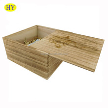 Shabby Chic Custom Wholesale Unfinished Sliding Lid Wood Boxes