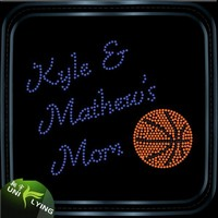 Matthew's basketball mom hot fix rhinestone transfer motif