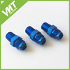 Anodized Aluminum AN to NPT Adaptor -8 AN to 3/8'' NPT Blue