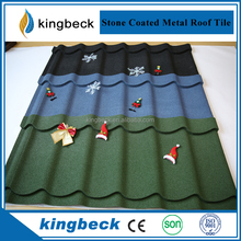 Villa House Stone Coated Steel Roofing Tile sheet metal roofing
