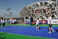 Outdoor plastic sports court flooring mat