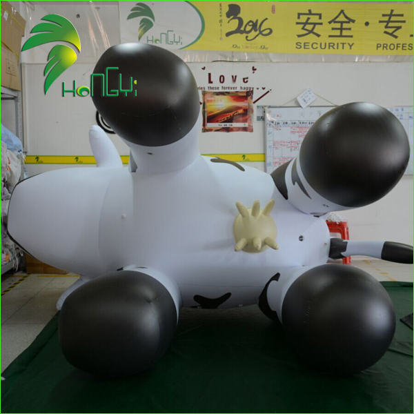 Outdoor Infaltable Cow Cartoon Character / Inflatable Cow Shape Helium Balloon