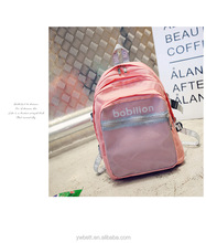 wholesale school backpack bag laptop with coloured ribbon and mesh front pocket from duffle bag manufacturers