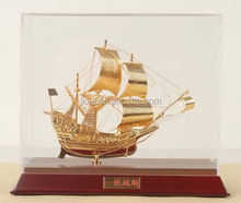 TOP quanlity Golden Ship Model For Home Decoration JC-04