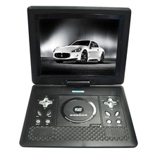 "Black 11.3"" LCD Swivel Portable Games DVD Player With TV/FM Radio+USB+MP3 Player Support RMVB Mobile DVD Players"