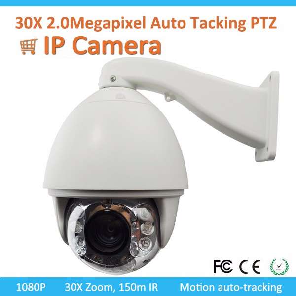 IP 1080P 20X Auto Motion Tracking 150M IR PTZ Camera