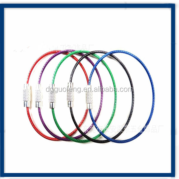 1.21.2mm /1.5mm Coated Round Wire with Pineapple Buckle For Bag / Card / Tag