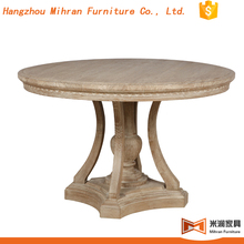 french provincial 4 seater round wooden dining table designs