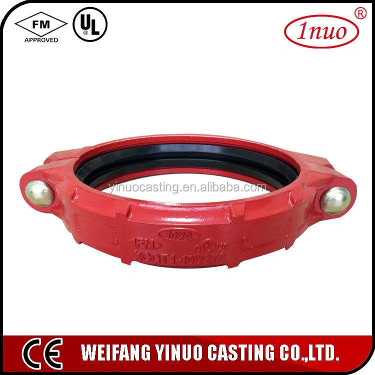 FM UL certificated grooved Cast Iron flexible rubber shaft coupling