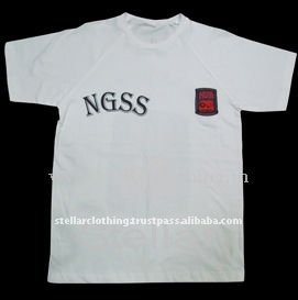 T SHIRT WITH SCHOOL LOGO