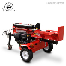 Italy Bologna Fair exhibited HONDA GX390 electric start 50ton gasoline hydraulic cheap log splitter for sale