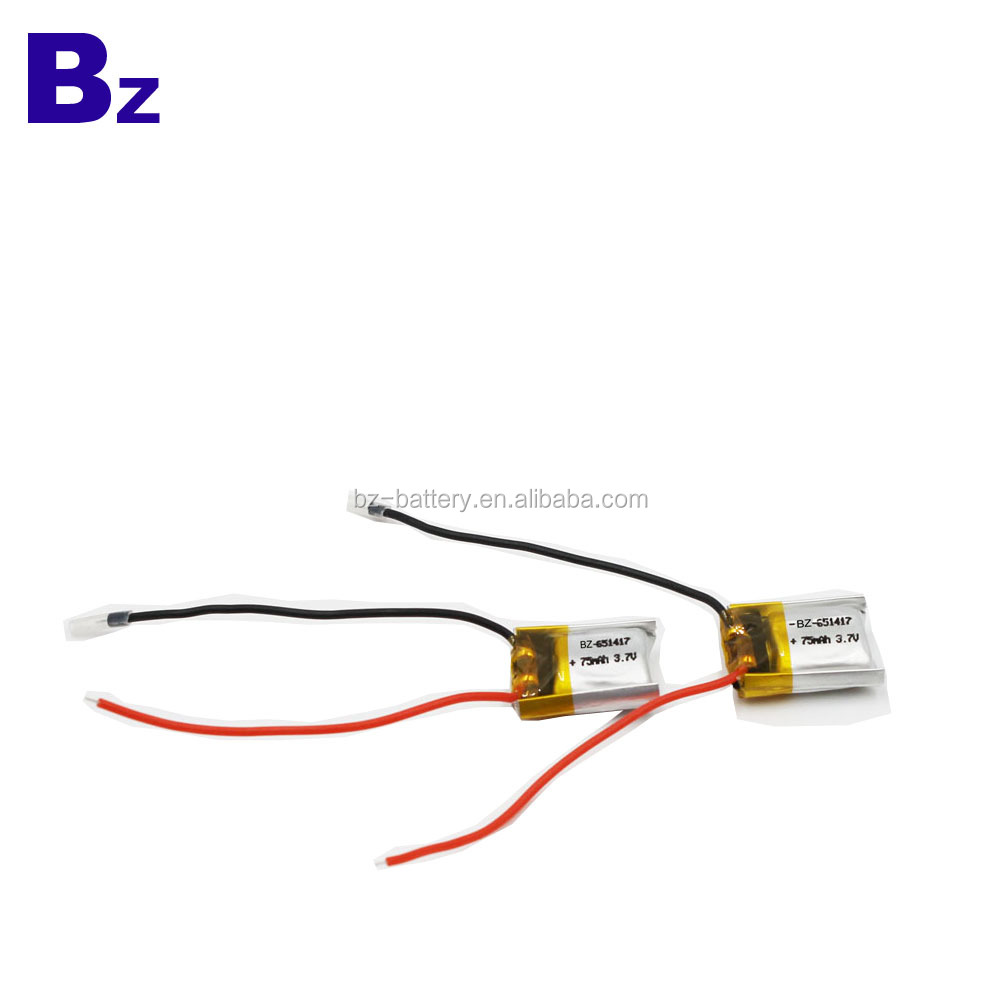 Special BZ651417 75mah 3.7V Rechargeable Li-Ion Polymer Battery For Digital Product
