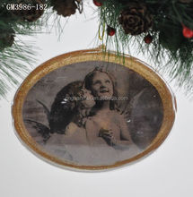 Cheap christmas hanging ball with kissing angel