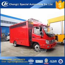 China high definition full color 4x2 Foton fire fighting publicity LED truck with good ad promotion efficient publicity truck