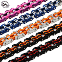 Factory Price 16mm New Fasion 316l Stainless Steel Men's Bycicle Bike Chain Bracelet Motorcycle Man Jewelry