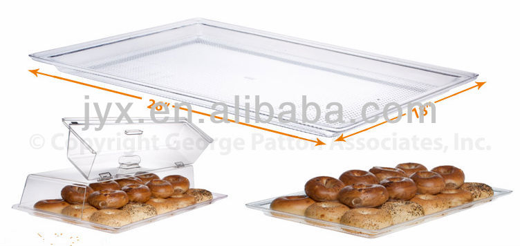 clear acrylic food tray with cover