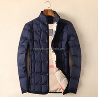 men's casual winter quilted jacket