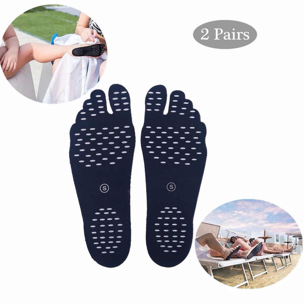 Barefoot Sticker Soft summer outdoor insoles Adhesive Foot Pads Stick On foot Protection for Women/Men