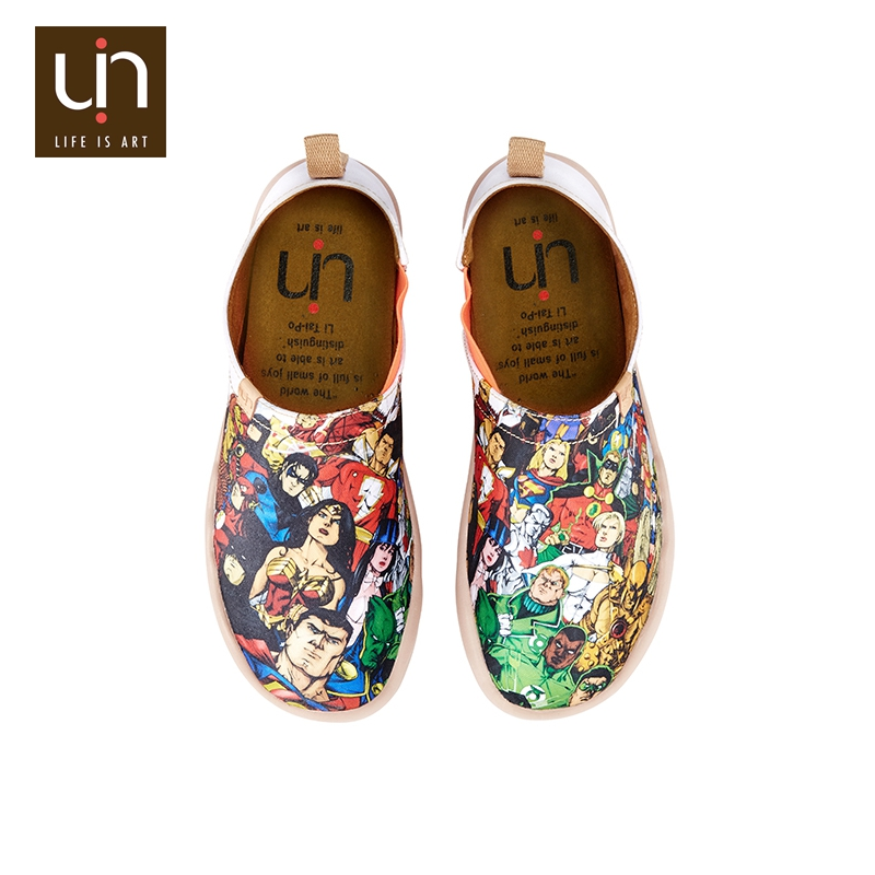 UIN Super Hero honor funny cartoon design printed shoes