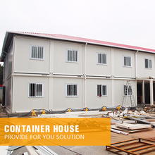 Affordable prefab container double flat pack mobile kit office rooms two floor prefab container house hot sale design