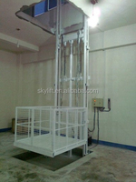 vertical electric hydraulic cargo lift with pump