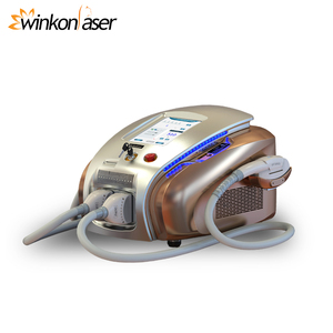 SHR E-light IPL Nd yag laser tattoo/Freckle/Vascular /hair/Acne Removal 3 in 1 Best Beauty Machine
