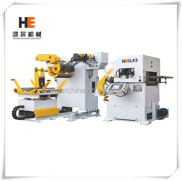 Compact uncoiler straightener NC servo Roller feed 3 in 1 press coil auto decoiler straightener feeder system