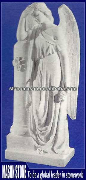 Factory directly thinking angel stone statue