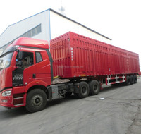 best-selling 2/3 axles box transport semitrailer