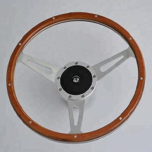 China 14'' Classic Riveted wooden steering wheel for Ford Mustang Shelby AC Cobra