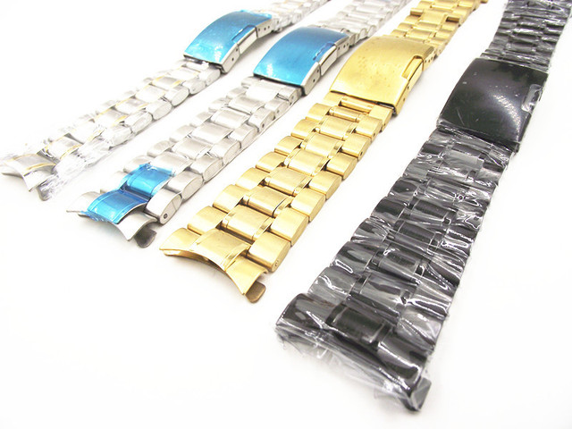 High quality -1PCS 18MM 20MM 22MM 24MM Solid Stainless Steel Watch band curved end Watch strap 4 color available -1532705