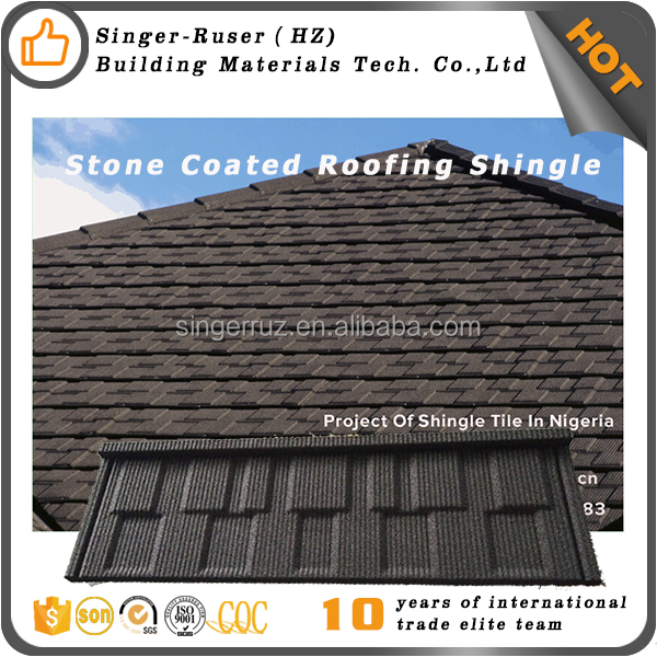New Zealand Standard Acrylic coated stone chips roofing sheet, roof tile sandwich panel tile roof