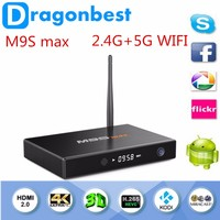 Hot ! Flash player Android 5.1 Smart TV Box M9S max S905 WiFi Ram 2G Rom 32G internet tv set top Bluetooth