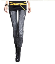 New elastic jeans women style popular long fashion denim jeans Designer apparels women top quality newest