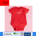 oem services manufactuer red baby knit romper