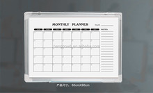 HB-98 whiteboard calendar/office whiteboard with aluminum frame ABS corners