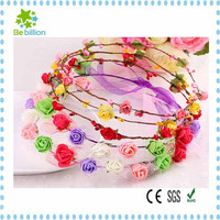 Charming floral hairband headband,girl Boho style flower tiara/ crown floral headband