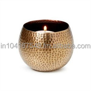 SOI Round Copper Hammered Votive