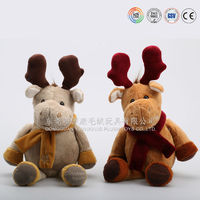 Wholesale Soft Hot Sale PLush Customized Christmas soft Moose toys