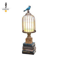Resin Base Iron Birdcage Reading Room