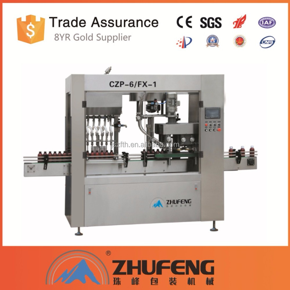 CE certificate inline filling and capping machine